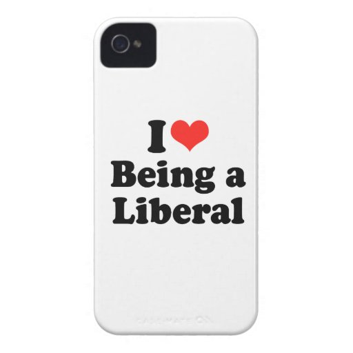 I LOVE BEING A LIBERAL.png Blackberry Cases