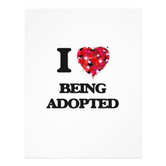 I Love Being Adopted 21.5 Cm X 28 Cm Flyer