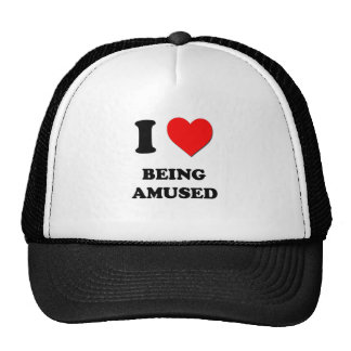 I Love Being Amused Mesh Hat