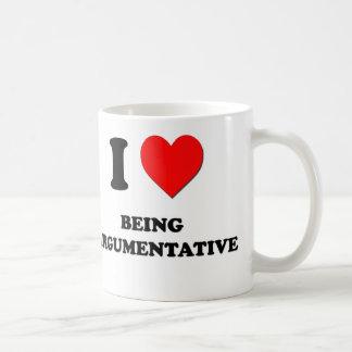 I Love Being Argumentative Basic White Mug