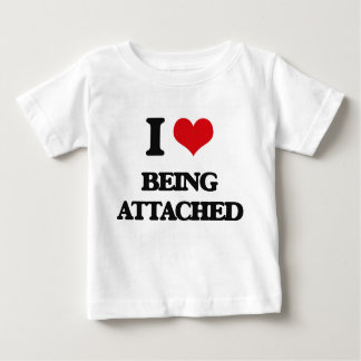 I Love Being Attached Tee Shirts