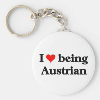 I love being Austrian Key Ring