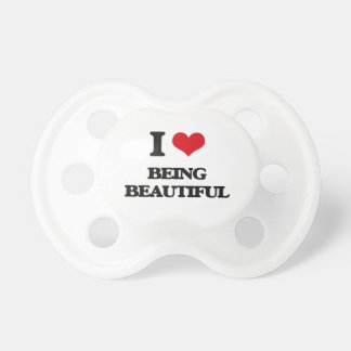 I Love Being Beautiful BooginHead Pacifier