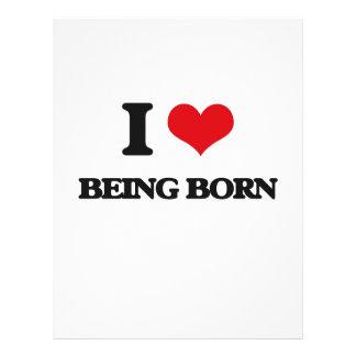 I Love Being Born Custom Flyer