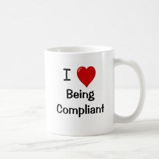I Love Being Compliant - Double Sided Basic White Mug