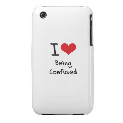 I love Being Confused iPhone 3 Case-Mate Cases
