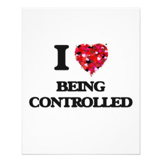 I love Being Controlled 11.5 Cm X 14 Cm Flyer
