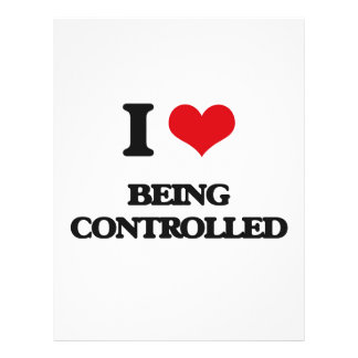 I love Being Controlled 21.5 Cm X 28 Cm Flyer