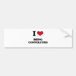 I love Being Convoluted Bumper Sticker