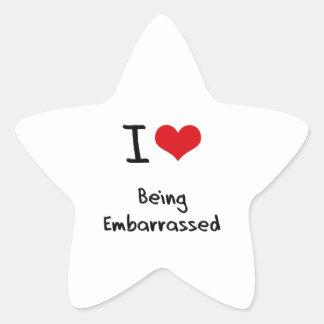 I love Being Embarrassed Star Sticker