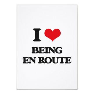 I love Being En Route 13 Cm X 18 Cm Invitation Card