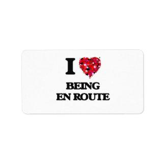 I love Being En Route Address Label