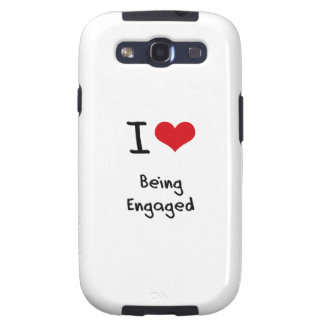 I love Being Engaged Samsung Galaxy S3 Case