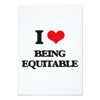 I love Being Equitable 13 Cm X 18 Cm Invitation Card