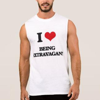I love Being Extravagant Sleeveless Shirt