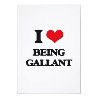 I Love Being Gallant 13 Cm X 18 Cm Invitation Card