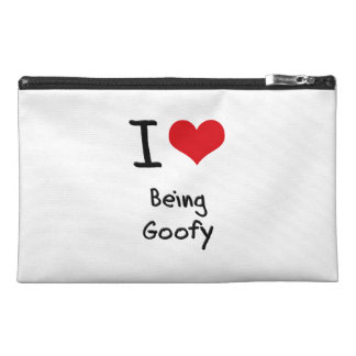 I Love Being Goofy Travel Accessory Bags