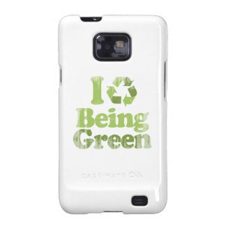 I LOVE BEING GREEN Faded.png Galaxy S2 Cover