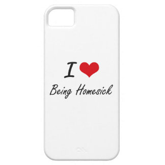 I Love Being Homesick Artistic Design Barely There iPhone 5 Case