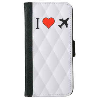I Love Being In A Plane iPhone 6 Wallet Case
