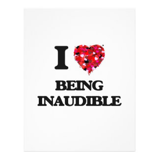 I Love Being Inaudible 21.5 Cm X 28 Cm Flyer