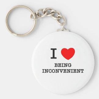 I Love Being Inconvenient Basic Round Button Key Ring