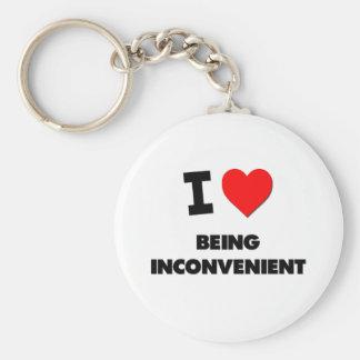 I Love Being Inconvenient Key Chain
