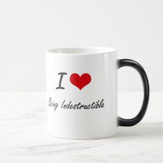 I Love Being Indestructible Artistic Design Morphing Mug
