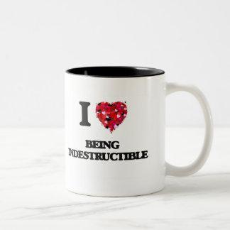 I Love Being Indestructible Two-Tone Mug