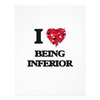 I Love Being Inferior 21.5 Cm X 28 Cm Flyer