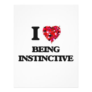 I Love Being Instinctive 21.5 Cm X 28 Cm Flyer