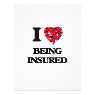 I Love Being Insured 21.5 Cm X 28 Cm Flyer