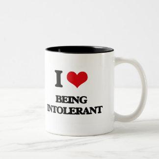 I Love Being Intolerant Mug