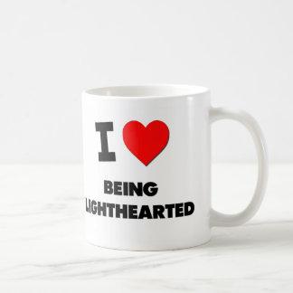 I Love Being Lighthearted Basic White Mug