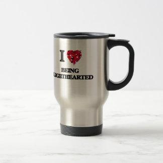 I Love Being Lighthearted Stainless Steel Travel Mug