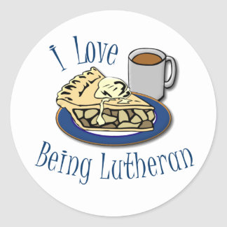 I Love being Lutheran! Stickers