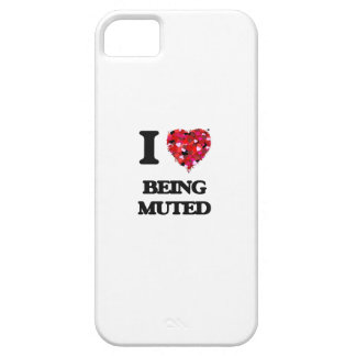 I Love Being Muted iPhone 5 Cover
