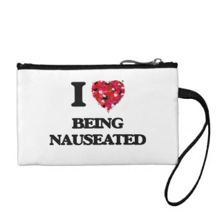 I Love Being Nauseated Coin Purses