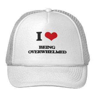 I Love Being Overwhelmed Trucker Hats