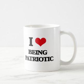 I Love Being Patriotic Coffee Mugs