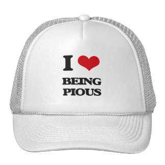 I Love Being Pious Mesh Hat