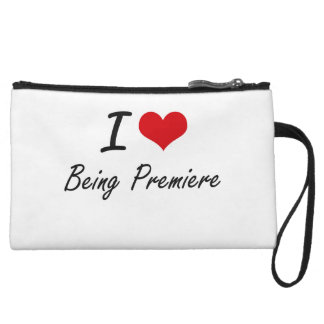 I Love Being Premiere Artistic Design Wristlet Purses