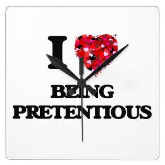 I Love Being Pretentious Wallclock