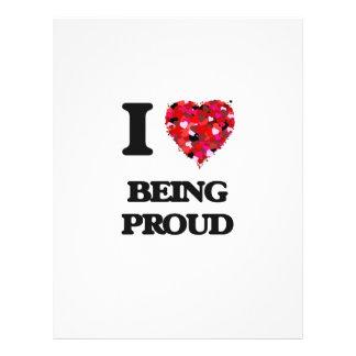 I Love Being Proud 21.5 Cm X 28 Cm Flyer