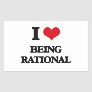 I Love Being Rational Rectangle Stickers