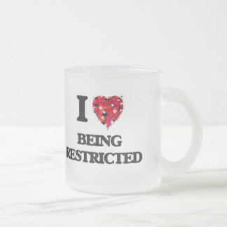 I Love Being Restricted Frosted Glass Mug