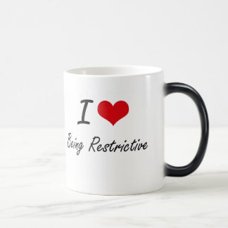 I Love Being Restrictive Artistic Design Morphing Mug