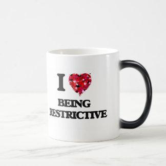 I Love Being Restrictive Morphing Mug