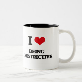 I Love Being Restrictive Two-Tone Mug