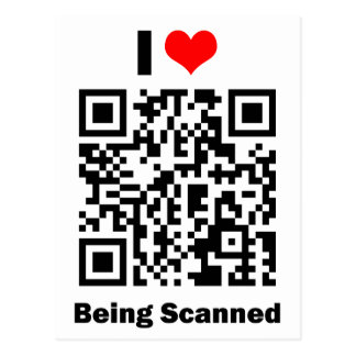 I Love Being Scanned Postcard